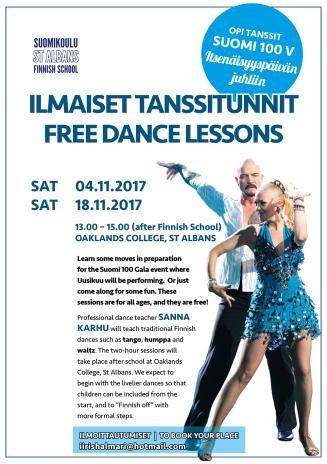 Suomikoulu tanssitunnit ja tapahtumat SYKSY 2017